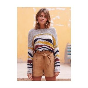 "SEZANE ""Casey"" Loose Knit Abstract Sweater"